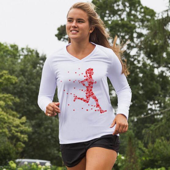 Women's Running Long Sleeve Tech Tee - Heartfelt Run