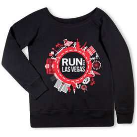 Running Fleece Wide Neck Sweatshirt - Run for Las Vegas