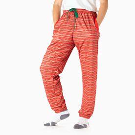 Running Lounge Pants - Christmas Knit
