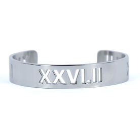26.2 Marathon Roman Numeral Cuff Bracelet