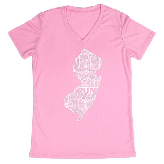 Women's Running Short Sleeve Tech Tee New Jersey State Runner