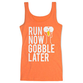 Running Women's Athletic Tank Top - Run Now Gobble Later (Bold)