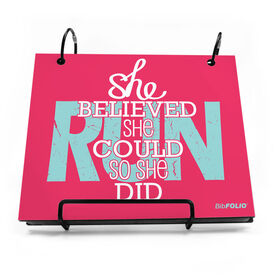BibFOLIO® Race Bib Album - She Believed She Could