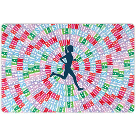 "Running 18"" X 12"" Wall Art - Eat Sleep Run Repeat (Female)"