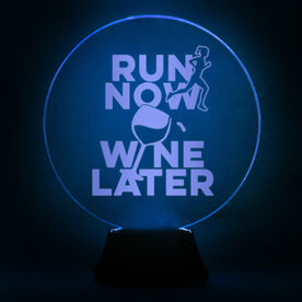 Running Acrylic LED Lamp Run Now Wine Later