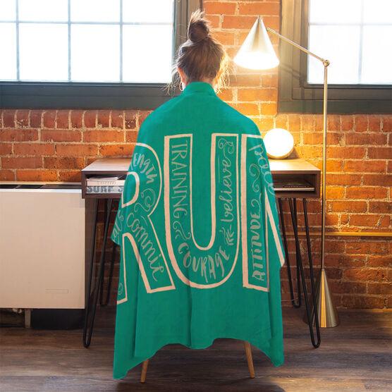 Running Premium Blanket - Run With Inspiration