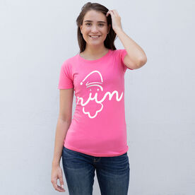 Women's Everyday Runners Tee - Santa Run Face