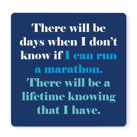 "Running 12"" X 12"" Removable Wall Tile - I Can Run A Marathon"