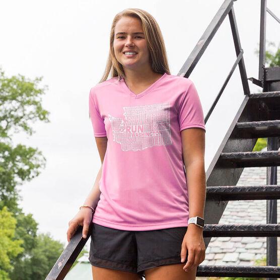 Women's Running Short Sleeve Tech Tee Washington State Runner