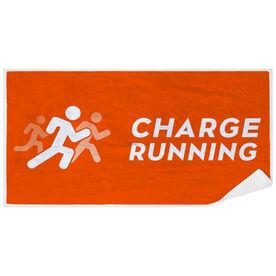 Premium Beach Towel - Charge Running Logo
