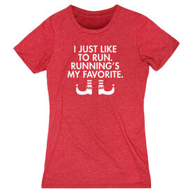 Women's Everyday Runners Tee - Running's My Favorite (Simple)
