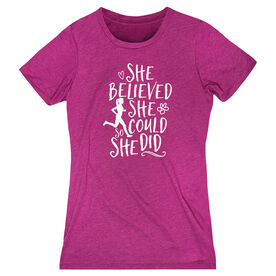 Women's Everyday Tee She Believed She Could (Sketch)