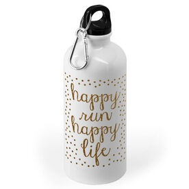 Running 20 oz. Stainless Steel Water Bottle - Happy Run Happy Life