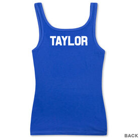 Women's Athletic Tank Top - Run For The Red White and Blue