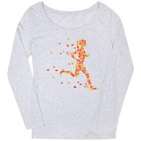 Women's Runner Scoop Neck Long Sleeve Tee - Leaf Runner