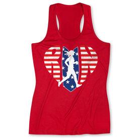 Women's Performance Tank Top - Patriotic Heart