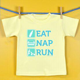 Baby T-shirt Eat Nap Run