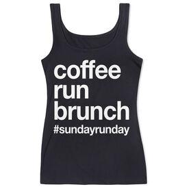 Women's Athletic Tank Top - Coffee Run Brunch