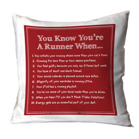 Running Throw Pillow Vintage You Know You're A Runner When