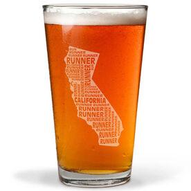 20 oz Beer Pint Glass California State Runner