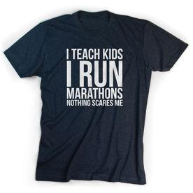 Running Short Sleeve T-Shirt - I Teach Kids I Run Marathons