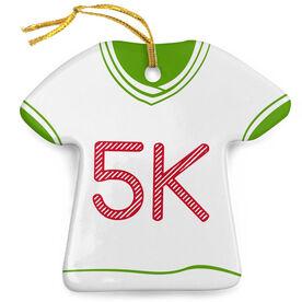 Running Porcelain Ornament 5K Shirt
