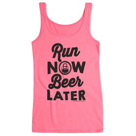 Women's Athletic Tank Top Run Club Run Now Beer Later