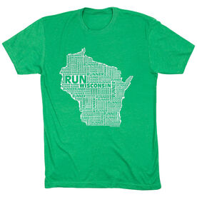 Running Short Sleeve T-Shirt - Wisconsin State Runner