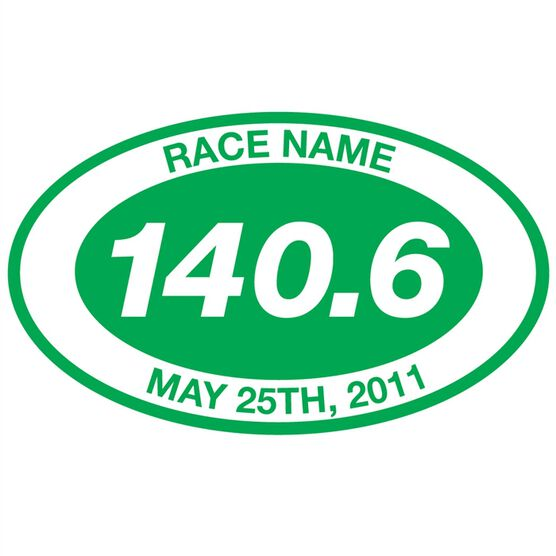 Personalized 140.6 Oval Triathlon Vinyl Decal