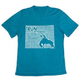 Women's Short Sleeve Tech Tee - Wyoming State Runner