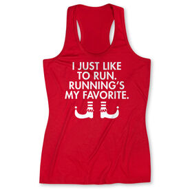 Women's Performance Tank Top - Running's My Favorite (Simple)
