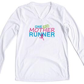 Women's Running Long Sleeve Tech Tee One Bad Mother Runner