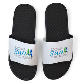 Running White Slide Sandals - Moms Run This Town