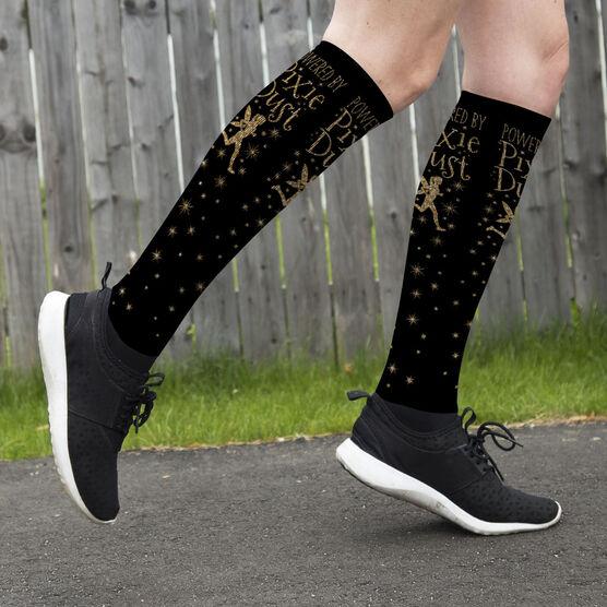 Running Printed Knee-High Socks - Powered By Pixie Dust