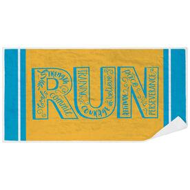 Running Premium Beach Towel - Run With Inspiration