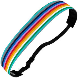 Athletic Juliband No-Slip Headband - Rainbow Stripes