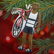 Triathlete Ornament - Black Male