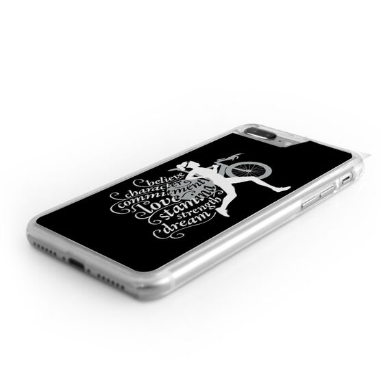 triathlon iphone case words to tri by gone for a run