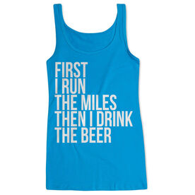 Women's Athletic Tank Top - Then I Drink The Beer