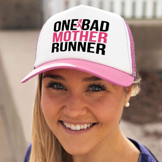 Running Trucker Hat One Bad Mother Runner