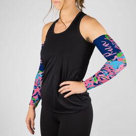 Running Printed Arm Sleeves - Run Floral