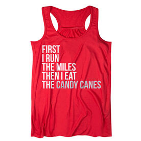 Flowy Racerback Tank Top - Then I Eat The Candy Canes