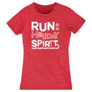 Women's Everyday Runners Tee -  Run On Holiday Spirit