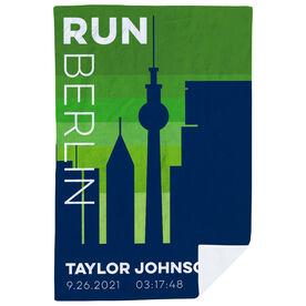 Running Premium Blanket - Personalized Run Berlin