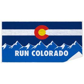 Running Premium Beach Towel - Run Colorado