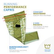 Running Performance Capris - Camo