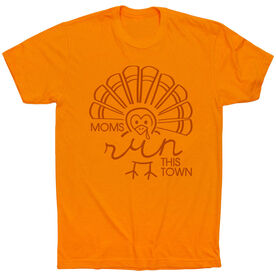 Running Short Sleeve T-Shirt - Moms Run This Town Turkey
