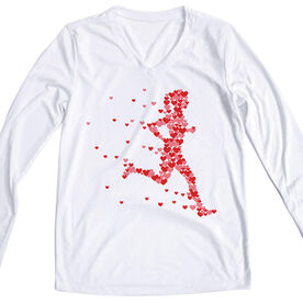 Women's Running Long Sleeve Tech Tee - Heartfelt Run
