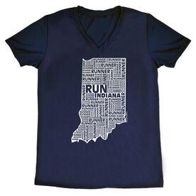 Women's Running Short Sleeve Tech Tee Indiana State Runner