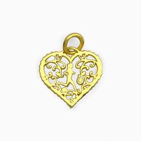 Livia Collection 14K Gold Vermeil Filigree Runner Heart Charm